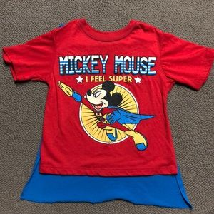 Disney Mickey Mouse T-Shirt With Removable Cape